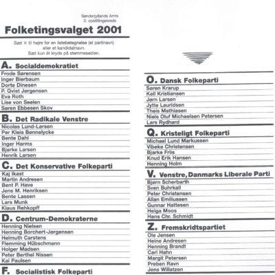 Duńska karta wyborcza