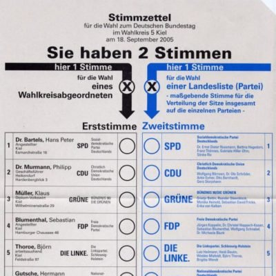 Karta wyborów do Bundestagu