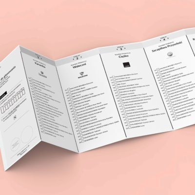 Projekt karta wyborcza - Harmonijka