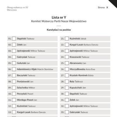 Projekt karta wyborcza (broszura) - Fundacja Batorego